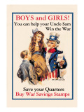 Uncle Sam  Boys and Girls  c1918