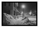 Snowy Night in Woodstock  Vermont