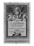 Frontispiece of the Commentary by De La Beaumelle of 'La Henriade' by Voltaire