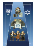 One Israeli Banking  Two Israelis Playing Chess  Three Israelis in Orchestra