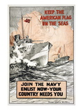 Join the Navy  Keep the American Flag on the Seas  c1917