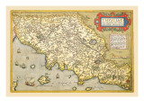 Map of Italian Coast above Rome