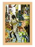 Aladdin and the Magic Lamp Illustration