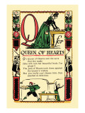 Q for Queen of Hearts
