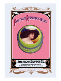 Portrait Reproductions on Tins by American Stopper Co