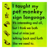 Monkey Sign Language