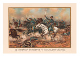 Cavalry Charge of the 5th Regulars  Gaines Mill 1862