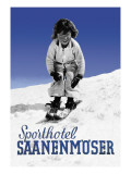 Sporthotel Saanenmoser: Little Girl Skiing