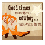 Cowboy Boots and Star