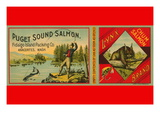 Puget Sound Salmon Can Label