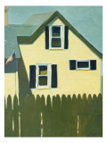 Yellow House  Olive Green Fence