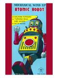 Mechanical Wind-Up Atomic Robot