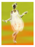 Dancing on Green and Orange Background