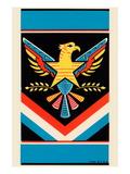 Eagle Broom Label