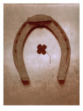 Lucky Horse Shoe on Dusty Rose Metallic I