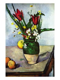 Still Life with Tulips and Apples