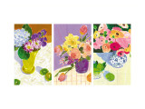 Floral Watercolors Triptych