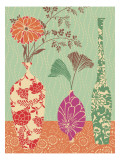 Floral Vase and Bowl Arrangement in Patterns  No3