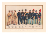 Uniforms of 7 Artillery and 3 Officers  1899