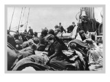 Immigrant Women Sitting on Steerage Deck