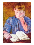 Thoughtful Reader By Cassatt
