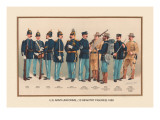 Uniforms of 10 Infantry Figures  1899