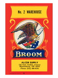 No 2 Warehouse Eagle Broom Label