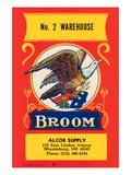 No 2 Warehouse Eagle Broom Label