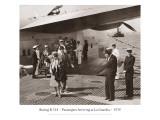 Boeing B-314  Passengers Arrive at La Gaurdia  1939