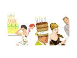 Birthday Celebrations Triptych