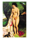 Bather with a Terrier