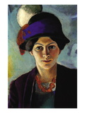 Portrait of The Wife of The Artist with a Hat