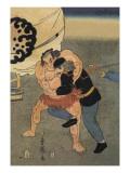 Sumo Wrestler Takes on a Foreigner
