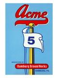 Acme 5 Broom Label