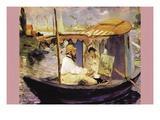 Claude Monet Dans Son Bateau Atelier