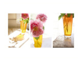 Rose in Amber Vase Triptych