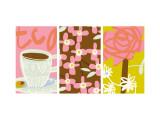 Tea Time Patterns Triptych