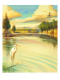 Lake Scene with Heron