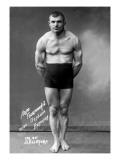 Flexing Russian Wrestler