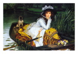 A Young Woman In a Boat