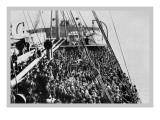 Crowd of Immigrants Standing on Deck