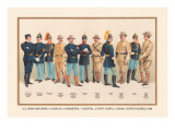 Uniforms: 4 Cavalry  2 Engineers  1 Hospital  2 Staff  2 Signal Corps  1899