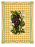Grapes on Patterned Background