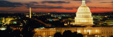 City Lit Up at Dusk  Washington DC  USA