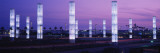 Light Sculptures Lit Up at Night  Lax Airport  Los Angeles  California  USA