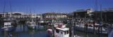 Boats Docked at a Harbor  Fisherman's Wharf  San Francisco  California  USA
