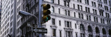 Traffic Light in Front of a Building  Wall Street  New York  USA