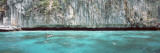 High Angle View of Three People Snorkeling  Phi Phi Islands  Thailand