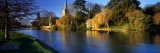 Church on a Riverbank  River Avon  England  United Kingdom