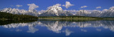 Reflection of Mountain in Water  Mt Moran  Grand Teton National Park  Wyoming  USA